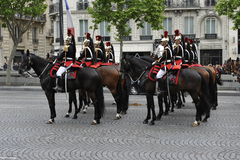 Victory Day Parade, Paris Royalty Free Stock Photography