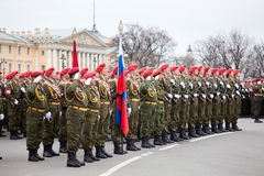 Victory Day parade rehearsal Royalty Free Stock Image