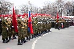 Victory Day parade rehearsal Royalty Free Stock Photo