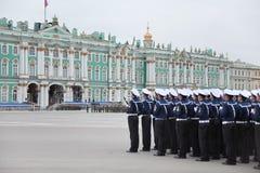 Victory Day parade rehearsal Royalty Free Stock Photography