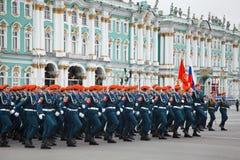 Victory Day parade rehearsal Royalty Free Stock Photos