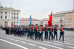 Victory Day parade rehearsal Stock Images