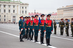 Victory Day parade rehearsal Stock Photography
