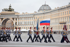 Victory Day parade rehearsal Stock Image
