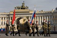 Victory Day parade rehearsal Stock Photography