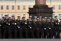 Victory Day parade rehearsal Stock Photo