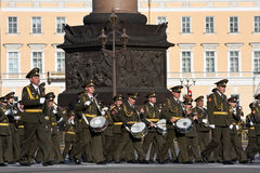 Victory Day parade rehearsal Royalty Free Stock Photos