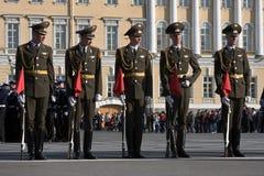 Victory Day parade rehearsal Royalty Free Stock Image