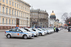 Victory Day parade security Stock Images