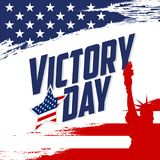 Victory Day poster stock illustration