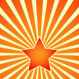 Victory Day Red Star on background of rays. Vector Stock Photo