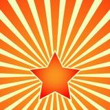 Victory Day Red Star på bakgrund av strålar vektor Arkivfoto