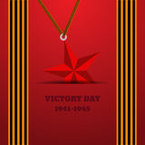 Victory Day with ribbon  illustration eps 10 background. Victory Day with ribbon  illustration eps10 background Stock Photos