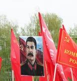 Victory Day symbol, världskrig 2 - Joseph Stalin Arkivfoton