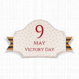 Victory Day 9th May paper Banner. With striped st. George Ribbon. Vector Illustration Stock Image