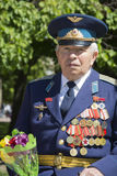 Victory Day. 9th May. A veteran with medals on his chest. Royalty Free Stock Photography