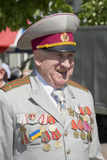 Victory Day. 9th May. A veteran with medals on his chest. Stock Photography