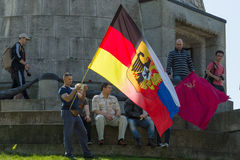Victory Day in Treptower Park. Berlin Stock Image