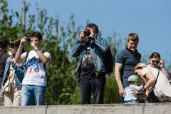 Victory Day in Treptower Park. Berlin Royalty Free Stock Images