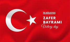 Victory Day Turkey-Fahne Vektor Lizenzfreies Stockbild
