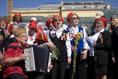 Victory Day-viering in Moskou Royalty-vrije Stock Foto's