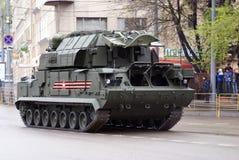 Victory Day-viering in Moskou tanks Stock Afbeeldingen