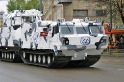 Victory Day-viering in Moskou Witte Tanks Royalty-vrije Stock Foto's