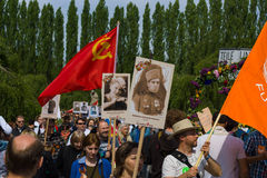 Victory Day (9 May) in Treptower Park. Berlin, Germany Stock Photo