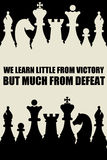 Victory defeat. Learning much from defeat but little from victory Stock Photo