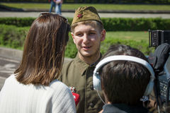 Victory in Europe Day. Soviet War Memorial in Treptower Park. Royalty Free Stock Image