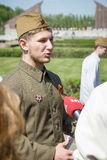 Victory in Europe Day. Soviet War Memorial in Treptower Park. Stock Images