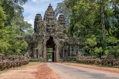 Victory gate Angkor Thom, Cambodia Royalty Free Stock Photo