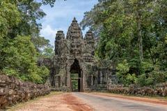 Victory gate Angkor Thom, Cambodia Stock Photography