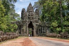 Victory gate Angkor Thom, Cambodia Stock Image