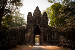 Victory Gate of Angkor Thom. The North Gate to entrance Angkor Thom Capital of Khmer Empire Stock Photo