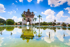 Victory Gate or Gate of Triumph in Laos Stock Photography
