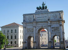 Victory Gate in München Royalty-vrije Stock Afbeelding