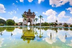 Victory Gate o puerta de Triumph en Laos Fotografía de archivo