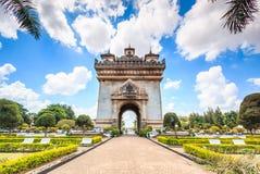 Victory Gate o puerta de Triumph en Laos Imagen de archivo libre de regalías
