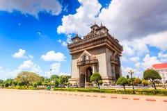 Victory Gate o puerta de Triumph en Laos Fotografía de archivo libre de regalías