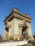 Victory Gate (Patuxai) in Vientiane Royalty Free Stock Image