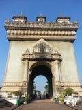 Victory Gate (Patuxai) in Vientiane, Laos Royalty Free Stock Photos