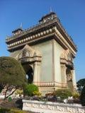 Victory Gate (Patuxai) in Vientiane, Laos Stock Photo