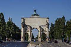 Victory Gate Siegestor in München, Duitsland, 2015 Stock Afbeelding