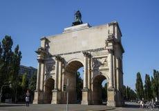 Victory Gate Siegestor in München, Duitsland, 2015 Royalty-vrije Stock Foto