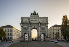 Victory Gate Siegestor à Munich, Allemagne, 2015 Images libres de droits