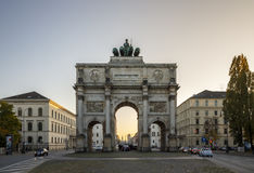 Victory Gate Siegestor in Munich, Germany, 2015 Royalty Free Stock Images