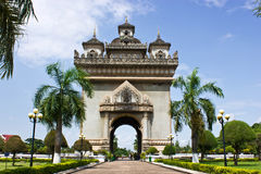 The Victory gate in Vientiane, Laos Royalty Free Stock Image