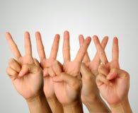 Victory Gesture Fotografia Stock Libera da Diritti