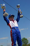 Victory in  go-cart racing Stock Image